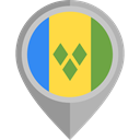 flag, placeholder, flags, Country, Nation, St Vincent And The Grenadines DarkGray icon