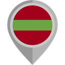 flag, Transnistria, Nation, placeholder, flags, Country DarkRed icon