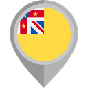 Country, Nation, flag, placeholder, flags, niue SandyBrown icon