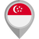 flag, singapore, placeholder, flags, Country, Nation DarkGray icon