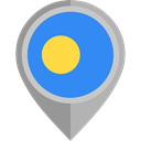 placeholder, flags, Country, Nation, flag, Palau DodgerBlue icon