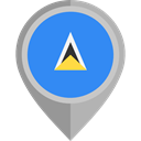 flag, placeholder, flags, Country, Nation, St Lucia DodgerBlue icon