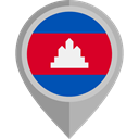 Nation, cambodia, placeholder, flags, Country, flag DarkGray icon