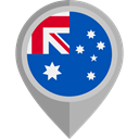 flag, Australia, placeholder, flags, Country, Nation Teal icon
