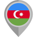 flag, Azerbaijan, placeholder, flags, Country, Nation DarkGray icon