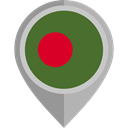 flag, Bangladesh, placeholder, flags, Country, Nation DarkOliveGreen icon
