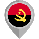 flag, Angola, placeholder, flags, Country, Nation Black icon