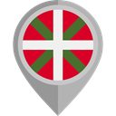 Region, autonomous, Basque Country, flag, placeholder, flags DarkGray icon