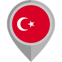 flag, turkey, placeholder, flags, Country, Nation Crimson icon