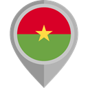 flag, placeholder, flags, Country, Nation, Burkina Faso DarkGray icon