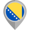 flag, placeholder, flags, Country, Nation, Bosnia And Herzegovina DarkGray icon