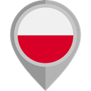 Nation, Republic Of Poland, flag, placeholder, flags, Country DarkGray icon