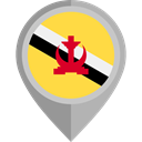 Country, Nation, flag, Brunei, placeholder, flags SandyBrown icon