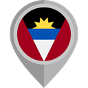 flags, Country, Nation, Antigua And Barbuda, flag, placeholder Black icon