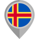flag, placeholder, flags, Country, Nation, Aland Islands DarkGray icon