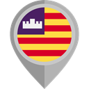 flag, placeholder, flags, Region, Balearic Islands DarkGray icon