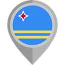 flags, Country, Nation, flag, Aruba, placeholder DodgerBlue icon