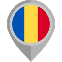 flags, Chad, Country, Nation, flag, placeholder DarkGray icon