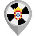 city, placeholder, flags, Region, Ceuta, flag Black icon