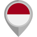 flag, Indonesia, placeholder, flags, Country, Nation DarkGray icon