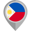 flag, Philippines, placeholder, flags, Country, Nation DarkGray icon
