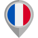 flag, france, placeholder, flags, Country, Nation DarkGray icon
