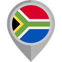 Country, Nation, flag, South africa, placeholder, flags Black icon
