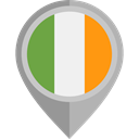 Country, Nation, flag, Ireland, placeholder, flags DarkGray icon