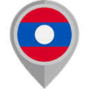 Country, Nation, flag, Laos, placeholder, flags DarkGray icon