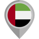 flag, united arab emirates, placeholder, Nation, flags, Country Black icon