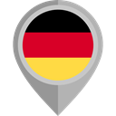 Nation, flag, germany, placeholder, flags, Country Black icon