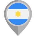 flag, Nation, Argentina, placeholder, flags, Country DarkGray icon