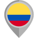 Country, Nation, flag, Colombia, placeholder, flags DarkGray icon