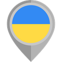 flag, ukraine, placeholder, flags, Country, Nation DarkGray icon