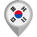placeholder, flags, Country, Nation, south korea, flag WhiteSmoke icon