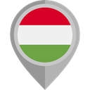 Country, Nation, flag, hungary, placeholder, flags DarkGray icon