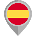 flag, spain, placeholder, flags, Country, Nation DarkGray icon