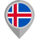 placeholder, flags, Country, Nation, flag, iceland DarkGray icon
