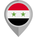 flag, Syria, placeholder, flags, Country, Nation Black icon