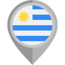 Nation, Uruguay, placeholder, flags, Country, flag DarkGray icon