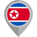flag, placeholder, flags, Country, Nation, North Korea DarkGray icon