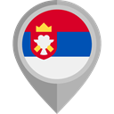 flags, Country, Nation, flag, Serbia, placeholder DarkGray icon
