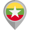 placeholder, flags, Country, Nation, flag, myanmar DarkGray icon