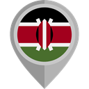 Country, Nation, kenya, flag, placeholder, flags Black icon