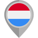 flag, Luxembourg, placeholder, flags, Country, Nation DarkGray icon