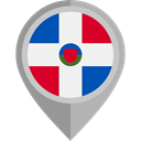Nation, Dominican Republic, flag, placeholder, flags, Country DarkGray icon