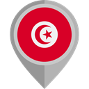 placeholder, flags, Country, Nation, flag, Tunisia Crimson icon