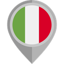 Country, Nation, flag, italy, placeholder, flags DarkGray icon