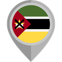 Country, Nation, flag, Mozambique, placeholder, flags Black icon