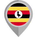 flag, Uganda, placeholder, flags, Country, Nation Black icon